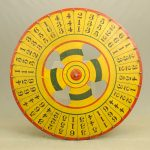 C. 1920's polychrome painted game wheel.