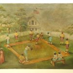 Folk Art Painting, Baseball Subject