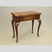 Rare 18th c. Queen Anne Turret Top Card Table