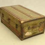"19th c. steamer trunk marked on side ""Fenimore Cooper / Albany N.Y."""