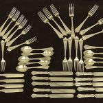 Tiffany Sterling Silver Flatware, 3603 grams.