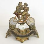 Early Tandem Bicycle Inkwell
