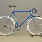"Condor men's 22 1/2"" track bicycle. British Racing Federation wheel covers"