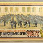 """Large early French bicycle poster. """"Cie CYCLISTE DE LA LEGION DE LA GARDE REPUBLICAINE..../ SVELTE CYCLES / ST. ETIENNE"""""""