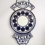 "Early Enameled ""CENTAUR CYCLES"" Trade Sign"