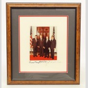 Autographed Presidents Photograph