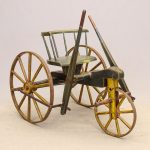 19th c. Wooden Painted Velocipede