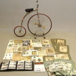 Harry Park trick rider archive. Includes his bicycle and various photographic archives