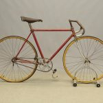 Early BSA. track bicycle. Wooden rims