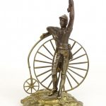Brass High Wheel Bicycle Trophy