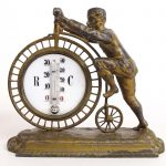 C. 1885 High Wheel Figural Barometer