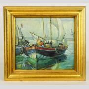 Emile Albert Gruppe, Painting, Gloucester Harbor scene
