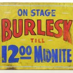 Early 20th Century pressed fiberboard trade sign