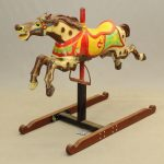 Early painted cast metal Carousel horse