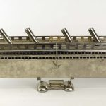 Unsual Silverplate Titanic Boat Model