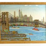 Vestie E. Davis (1903-1978), Brooklyn Bridge, oil on canvas