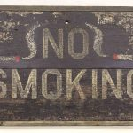Late 19th c. painted wooden trade sign