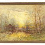 Dubois Hasbrouck (1860-1934), landscape, watercolor