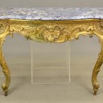 Early French Marble Top Console Table