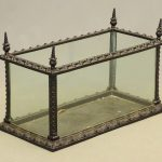 19th c. cast iron and glass terrarium