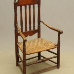 18th c. Banister back maple and hickory armchair