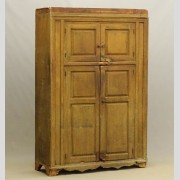 19th c. Hudson Valley four door wall cupboard