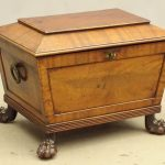 19th c. Mahogany Cellarette