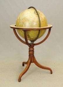 "Victorian Floor Globe. Titled: ""Bardin's New Terrestrial Globe."" S.C. Tisley, Gough Square, London: 1856"