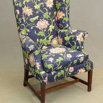 18th c. Chippendale mahogany wing chair