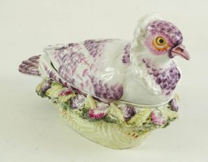Antique Porcelain Pigeon Tureen