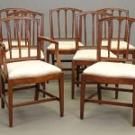 Set (7) 19th c. Salem Mass. Hepplewhite Chairs