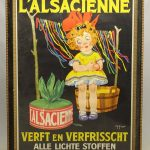 "Large advertising poster ""L' ALSACIENNE..."", also marked Brussel"