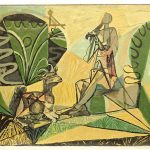 Pablo Picasso (1881-1973), Lino cut with possible added embellishments