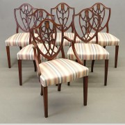 Set of (6) 19th c. Hepplewhite Chairs