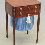 C. 1800 Sheraton Carved Mahogany Sewing Stand