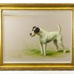 """Painting: Maud Earl (1864-1943), """"Miss Hatfield's Wire-haired / Fox Terrier"""
