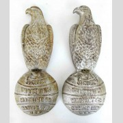 Pair Cast Iron Case Eagle Signs