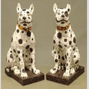 Pair of Pottery Dogs