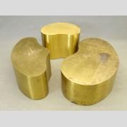 Set of (3) Brass Cloud Tables