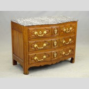 19th c. French Marble Top Commode