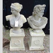 Pair of Cast Stone Busts
