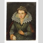 Painting, 18th c. Portrait of a Young Woman